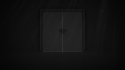 Door opening in the dark to show light
