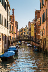Canal in Venice, Italy.