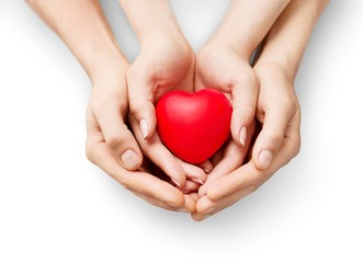 Care. Family health, charity and medicine concept - male and