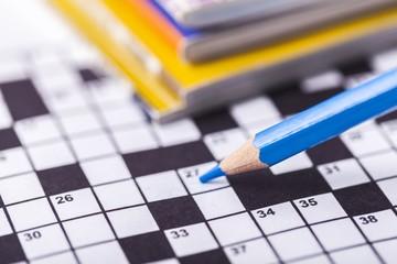 Crossword. Crossword Puzzle and Pencil