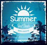 Summer beach Hawaii background