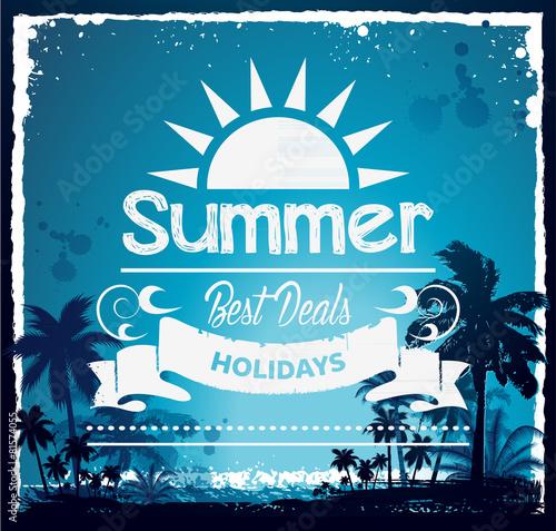 Summer beach Hawaii background - 81574055