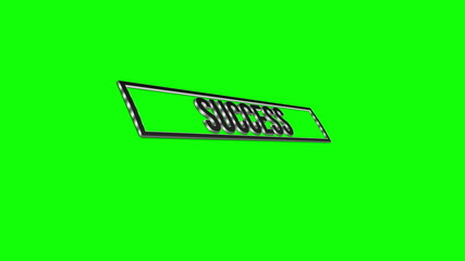 3d success moving text