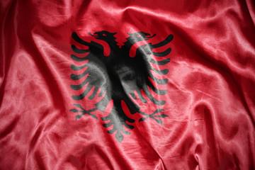 shining albanian flag