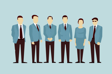 Concept of Group People. Vector flat avatars