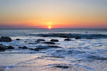 Power of sunrise and sea