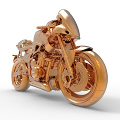 Golden Motorcycle
