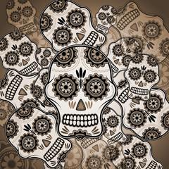 Funny sugar skulls
