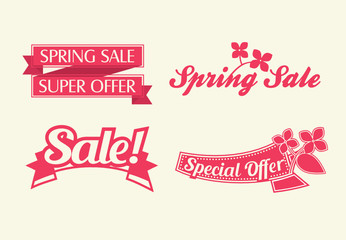 spring sale vector banners