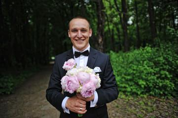 Happy groom