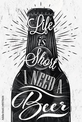 Poster vintage beer Poster