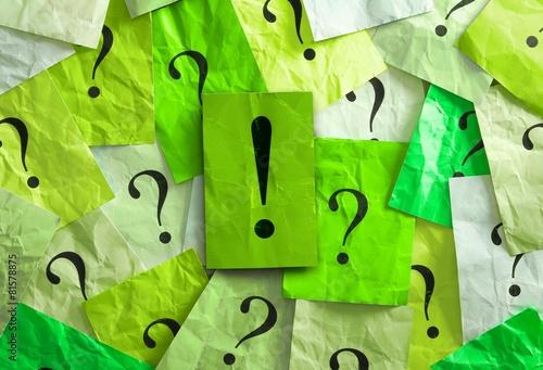 Poster Viele Fragen - und eine Antwort darauf!