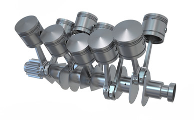 Crankshaft V10 engine
