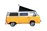 Campingbus freigestellt auf weiss