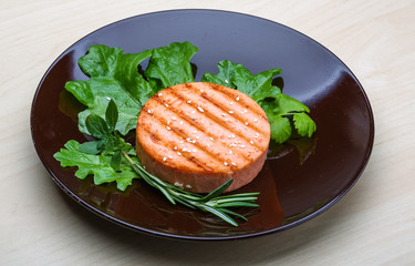 Salmon burger cutlet
