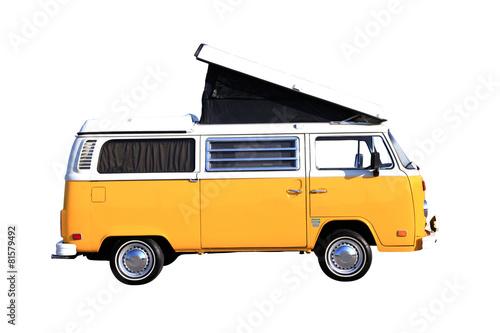 Campingbus freigestellt auf weiss Poster