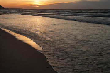 Sea coast landscape