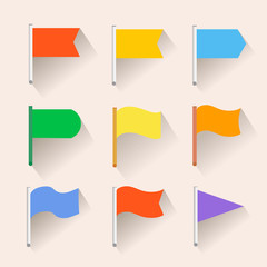 Set of Flag icons. Flat style.