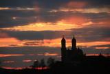 Sonnenuntergang mit Kirche Schönenberg - Ellwangen