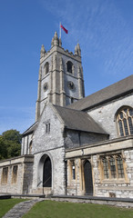 The Minster Church of St Andrew in Plymouth, Devon - England.