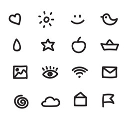 set of simple vector web icons