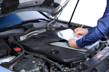car inspection with checklist