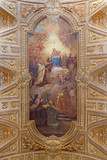 Rome - ceiling freso with Madonna and Simon Stock