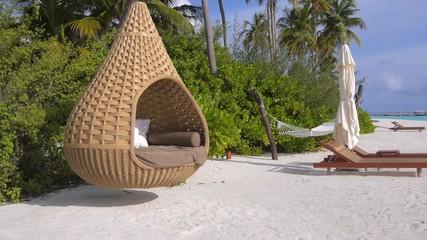 Beautiful Maldives sandy beach