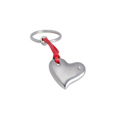 keychain in the shape of a heart