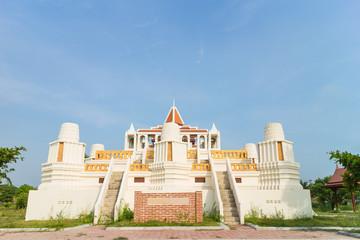 Simulation for Nakhon luang castle under sunlight
