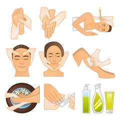 Beauty spa icons