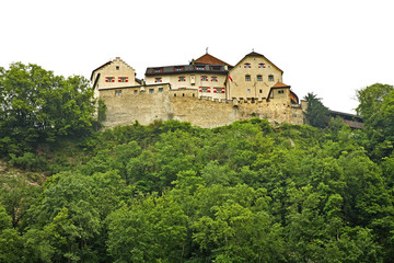 Liechtenstein Castle in Vaduz. Principality of Liechtenstein