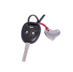 the car key in the keychain