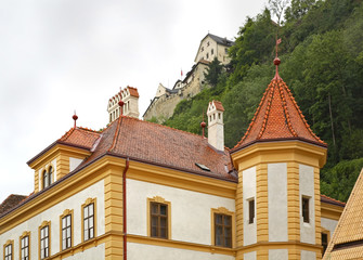 Building in Vaduz. Principality of Liechtenstein