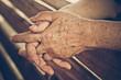 hands of a female elderly full of freckles - 81585447