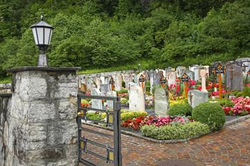 Cemetery in Vaduz. Principality of Liechtenstein