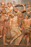Banska Stiavnica - carved relief of Flagellation from calvary