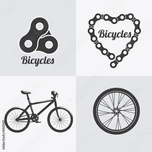 fototapeta na ścianę Projekt rowerów.