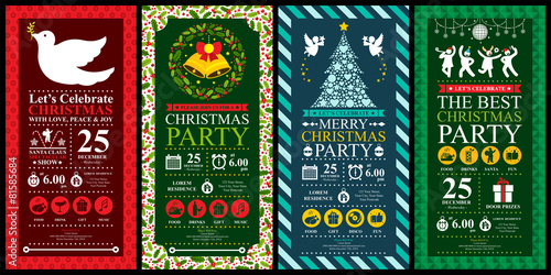 Christmas Party Invitation Card sets - 81585684