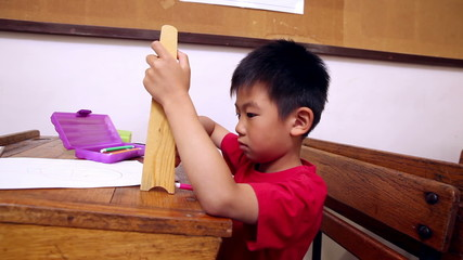 Concentrated pupil using abacus