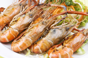 Group of grilled shrimps