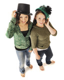 Young Teens Sporting Old Time Hats