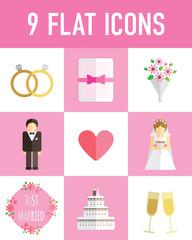 wedding flat icon