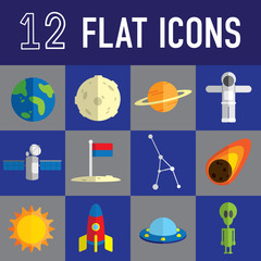 space flat icon