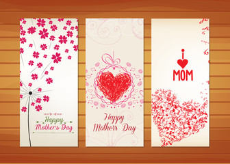 Floral and heart Mother's Day Cards