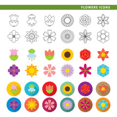 Flowers icons.