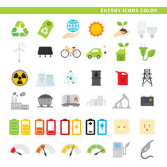 Energy icons color.