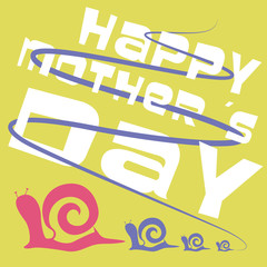Snail Mothers Day card