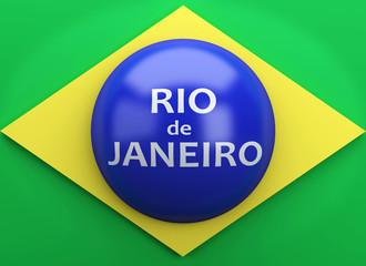 3d Brazil flag. Rio de Janeiro, 2016