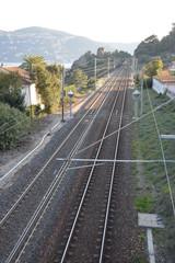 Eisenbahnlinie an der Küste
